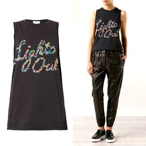3.1 Phillip Lim Lights Out Combo Tank Top Black M